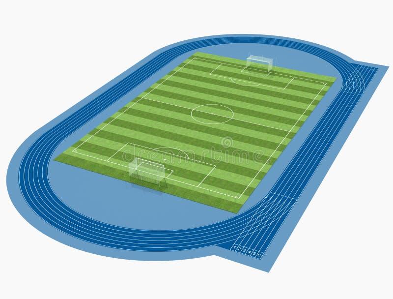足球场 库存例证