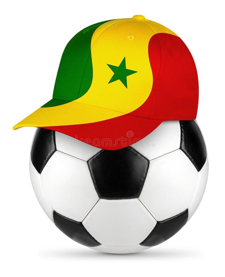 足球塞内加尔棒球帽 库存照片