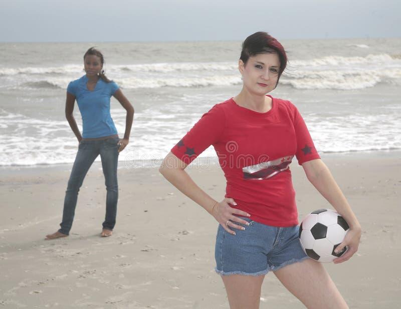 足球妇女 免版税库存照片