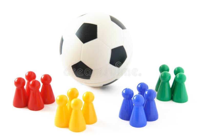足球小组 库存照片