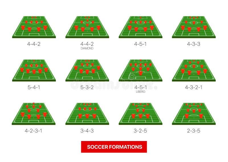 足球形成在白色隔绝的传染媒介收藏 向量例证