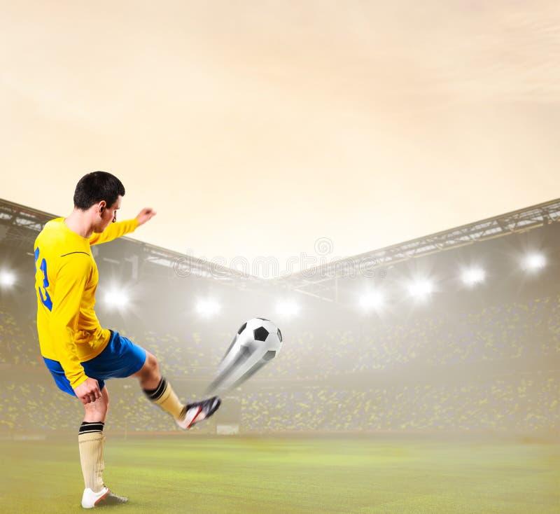 足球或足球运动员 免版税图库摄影