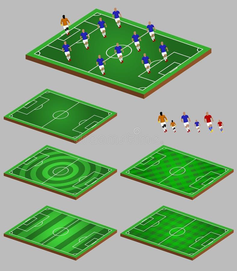 足球战术信息元素图表 皇族释放例证