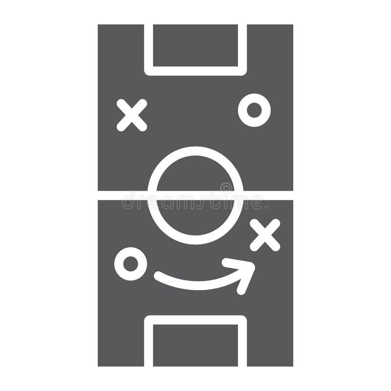 足球战略纵的沟纹象、比赛和领域,橄榄球战术标志,向量图形,在白色背景的一个坚实样式 皇族释放例证