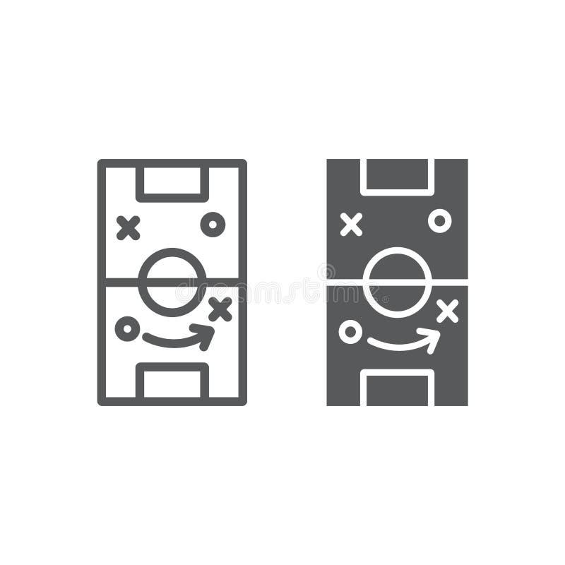 足球战略线和纵的沟纹象、比赛和领域,橄榄球战术标志,向量图形,在白色的一个线性样式 向量例证