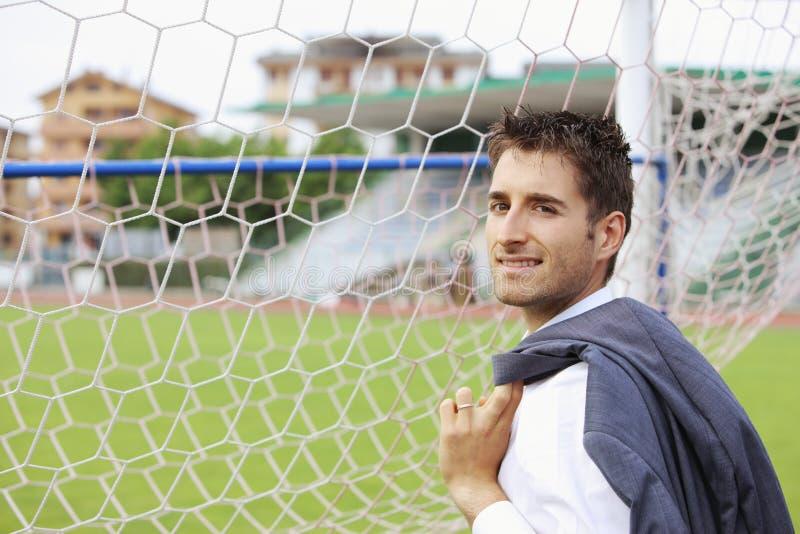 足球教练 免版税图库摄影