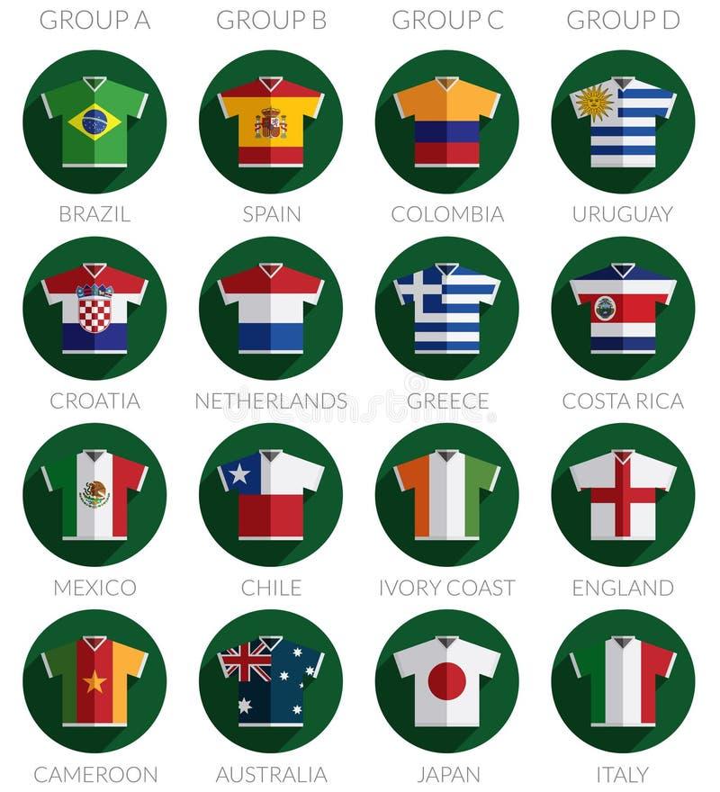 足球旗子衬衣象 向量例证