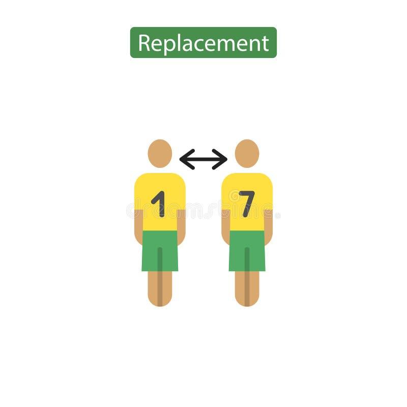 足球替换平的象 库存例证