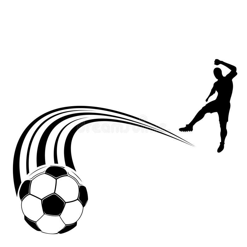 足球标志 库存例证