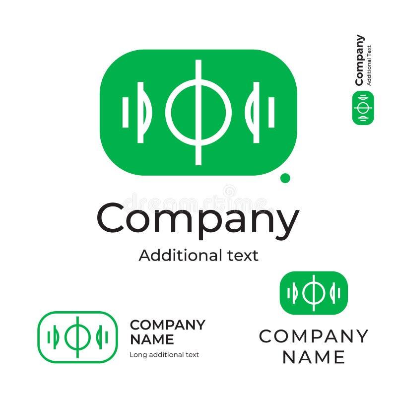 足球橄榄球场商标现代简单和干净的身分品牌象商业标志概念集合模板 向量例证