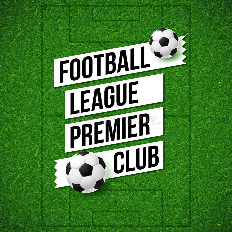足球橄榄球海报 足球与如此的橄榄球场背景 库存例证