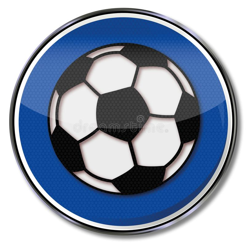 足球比赛和足球 库存例证