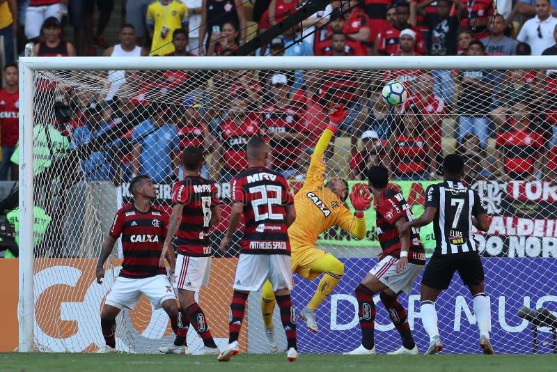 足球比赛巴西弗拉门戈队 库存照片