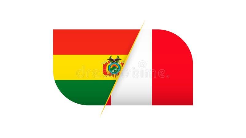 足球比赛玻利维亚对秘鲁 向量例证