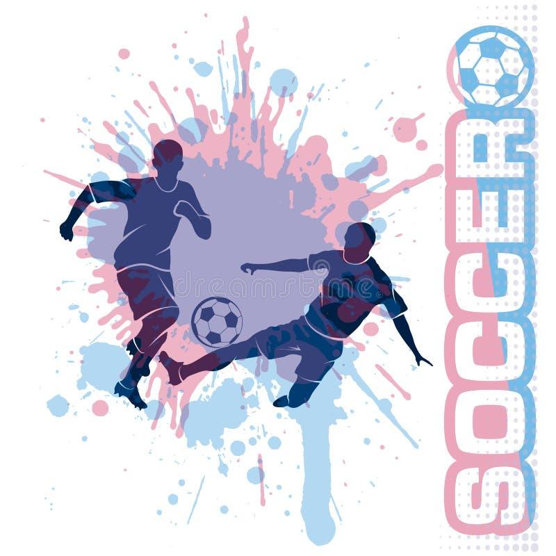 足球比赛,踢球,构成难看的东西样式 皇族释放例证