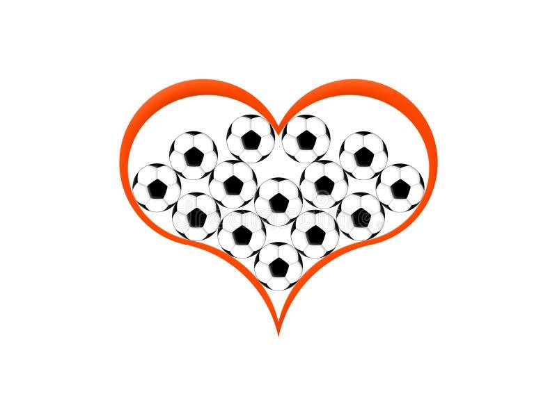 足球爱 皇族释放例证