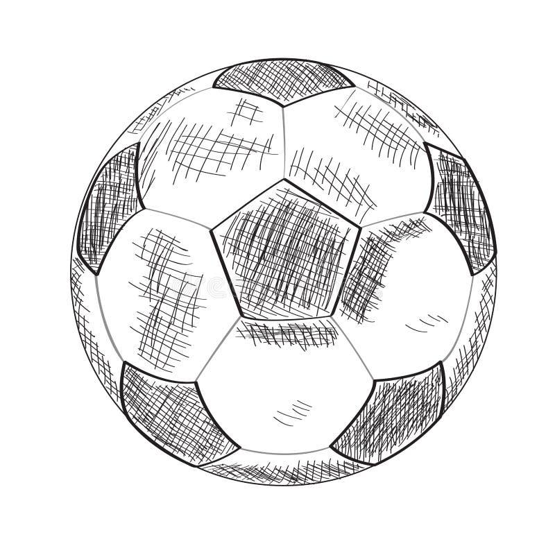 足球的剪影 免版税库存图片