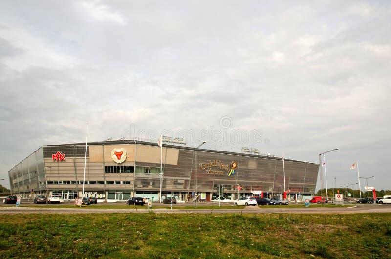 足球竞技场, Kalmar,瑞典 免版税库存图片
