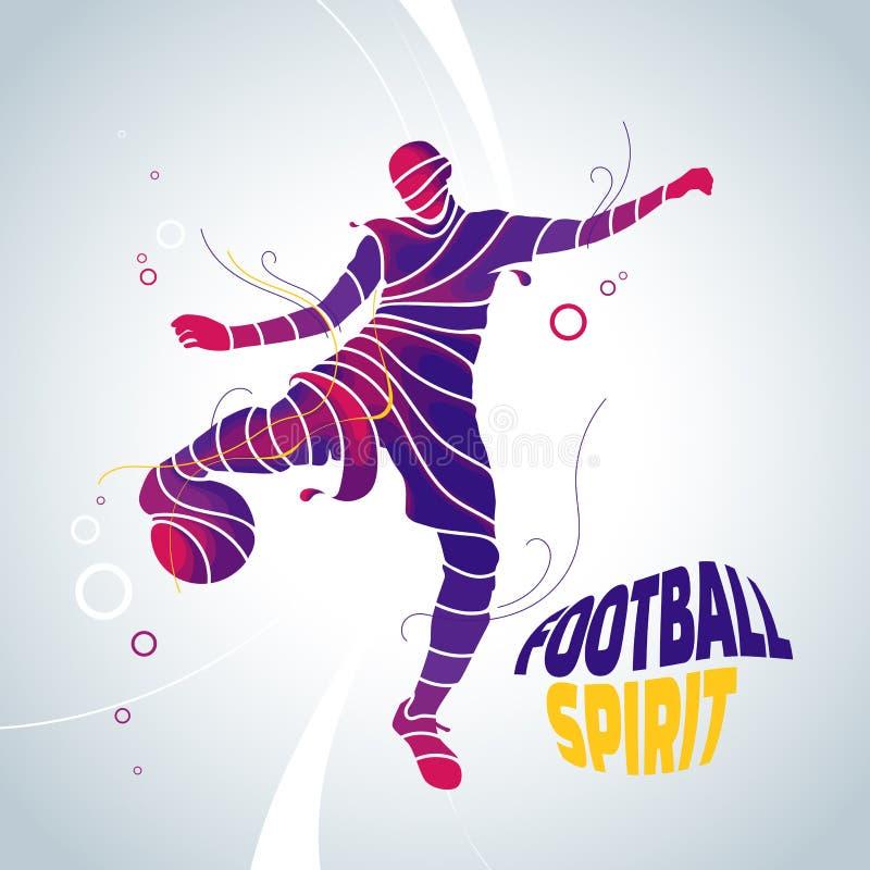 足球精神丝带飞溅 免版税库存图片
