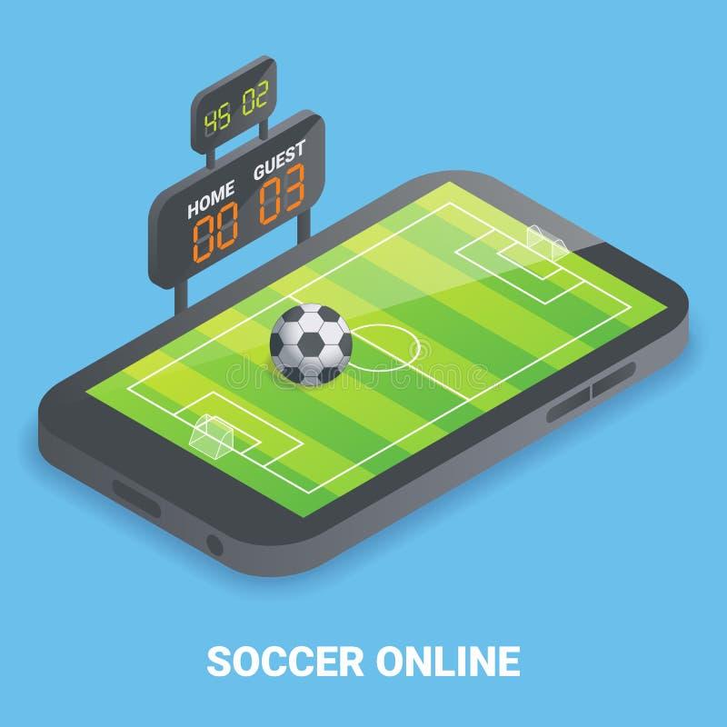 足球网上概念传染媒介平的等量例证 皇族释放例证
