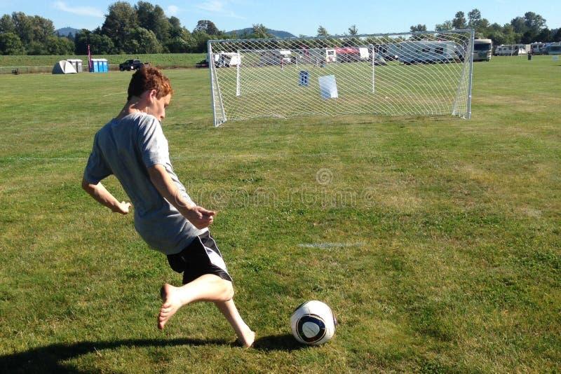 足球罢工 免版税库存图片