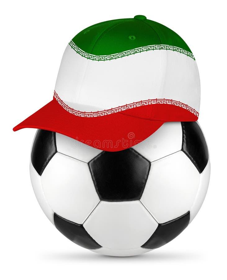 足球葡萄牙棒球帽 免版税库存图片