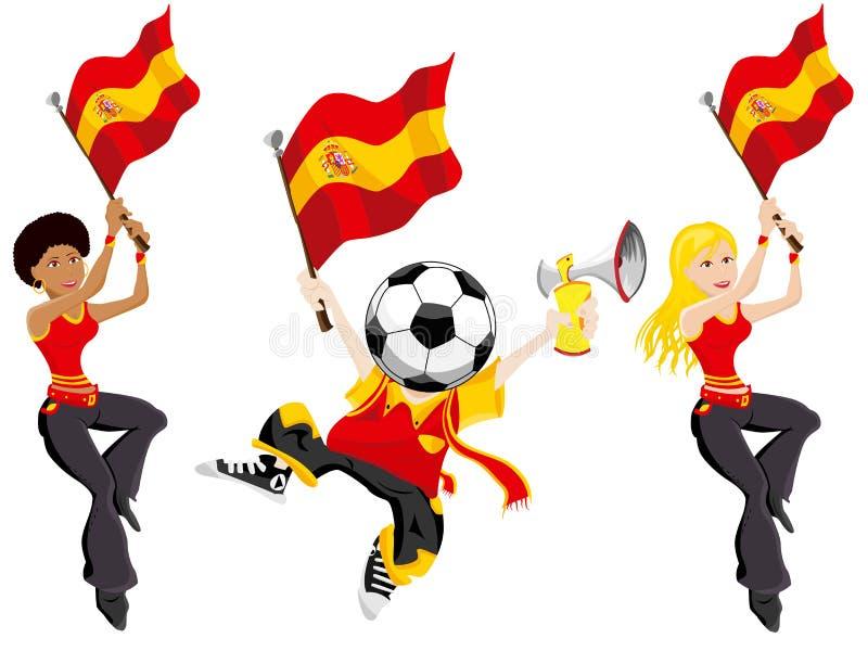 足球西班牙支持者 库存例证