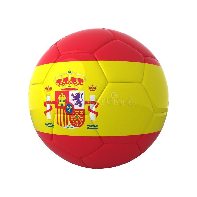 足球西班牙语 库存例证