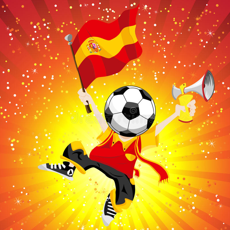 足球西班牙赢利地区 向量例证