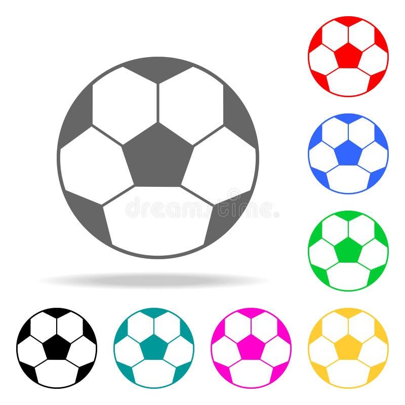 足球象 学校和研究多色的象的元素 优质质量图形设计象 网站的简单的象, 库存例证