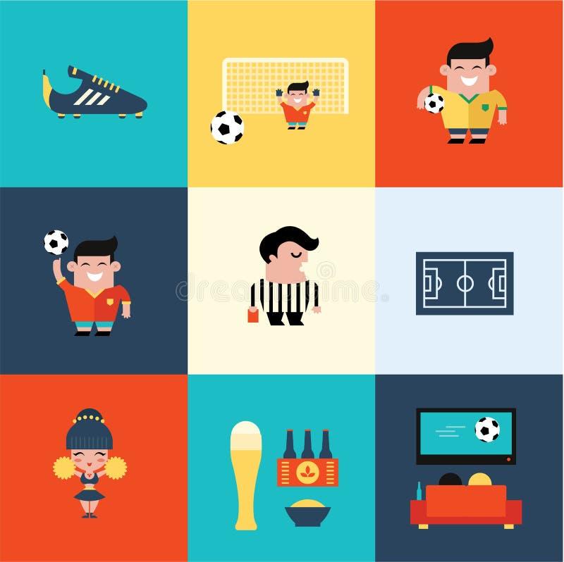 足球象 向量例证