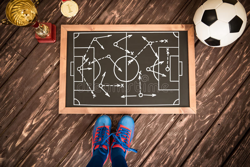 足球赛战略 图库摄影