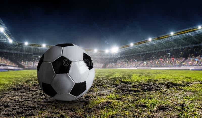 足球赛概念 混合画法 免版税库存照片