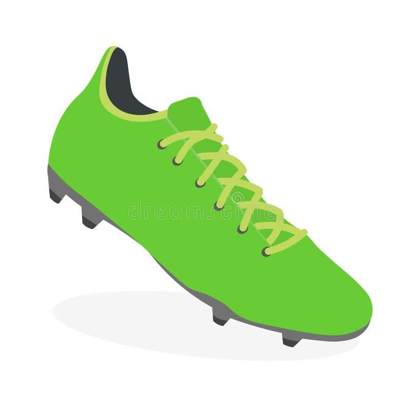 足球起动,橄榄球皮鞋,体育鞋类 向量例证