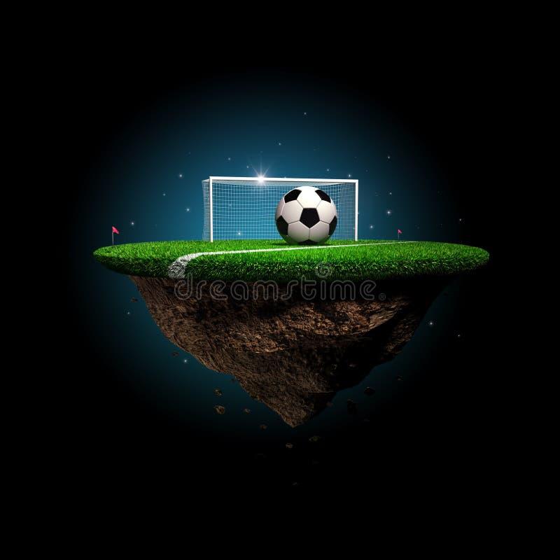 足球超现实的体育场 向量例证
