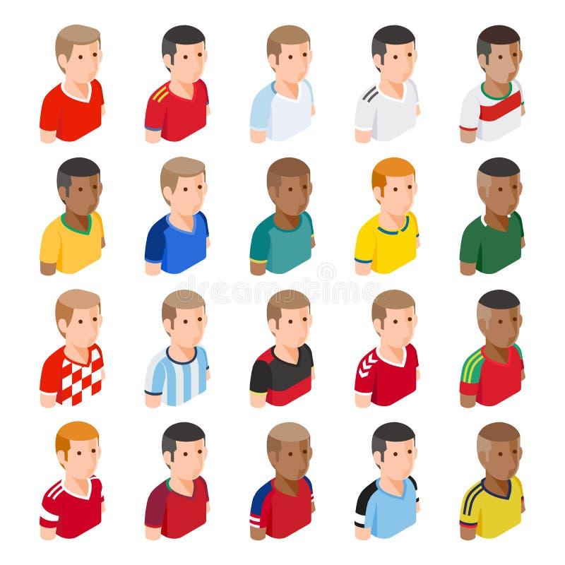 足球足球运动员具体化象 皇族释放例证