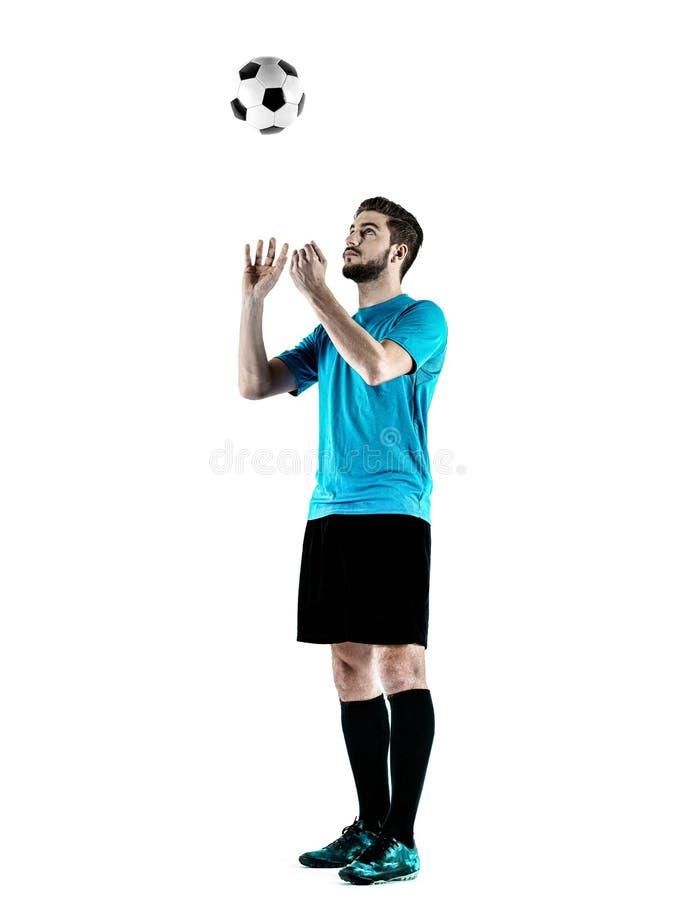 足球运动员人被隔绝 免版税库存照片