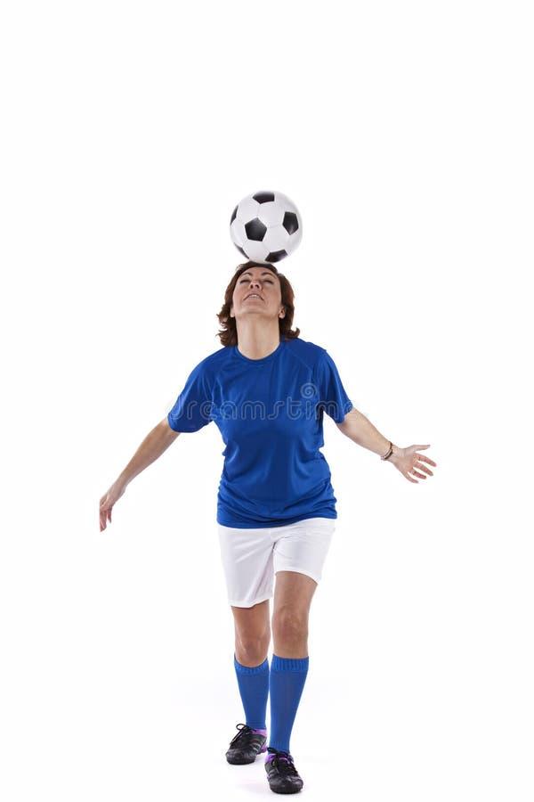 足球运动员妇女 库存图片