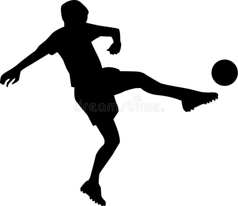 足球运动员射击 向量例证