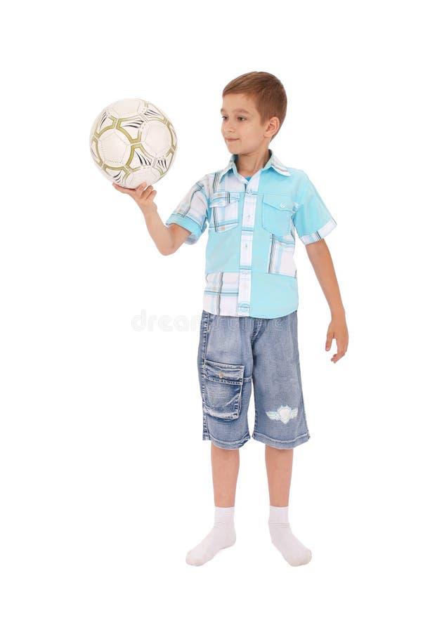 足球运动员年轻人 免版税库存图片