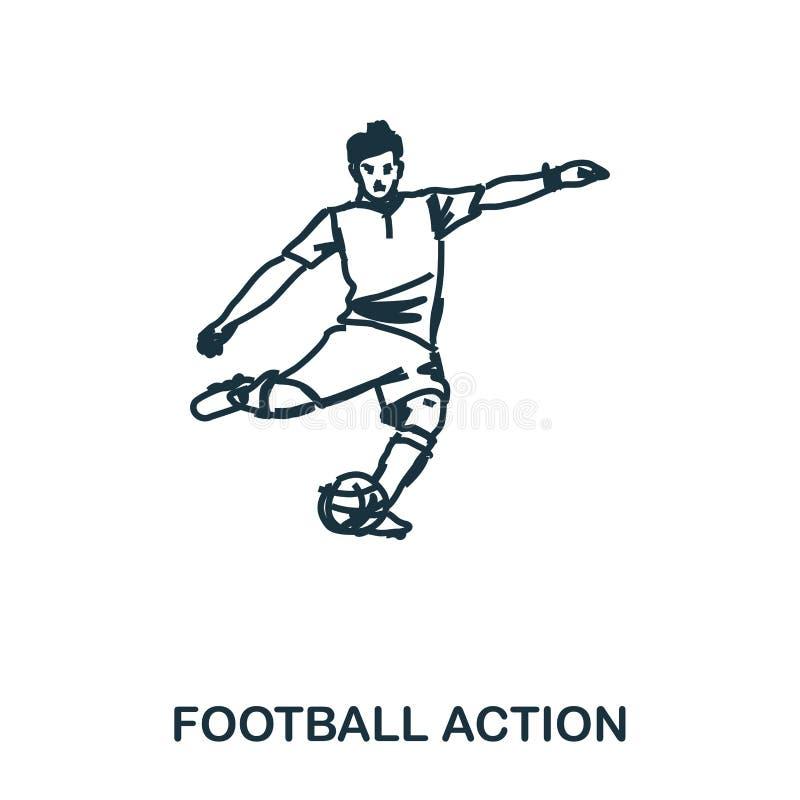 足球运动员象 流动apps、打印和更多用法 简单的元素唱歌 单色足球运动员象 向量例证