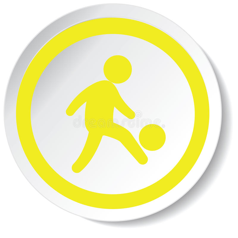 足球运动员象 皇族释放例证