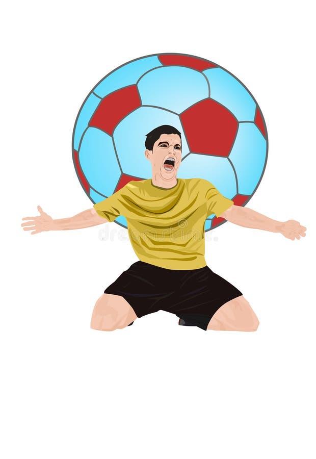 足球运动员足球 库存图片