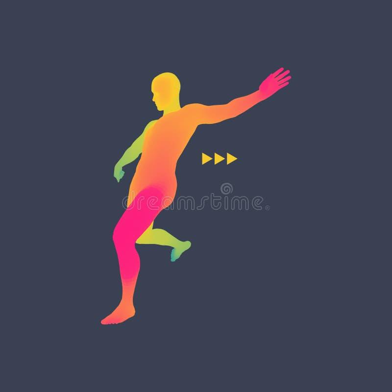 足球运动员 体育概念 3D人模型  机体人力短内裤减肥妇女 体育标志 设计要素例证图象向量 库存例证