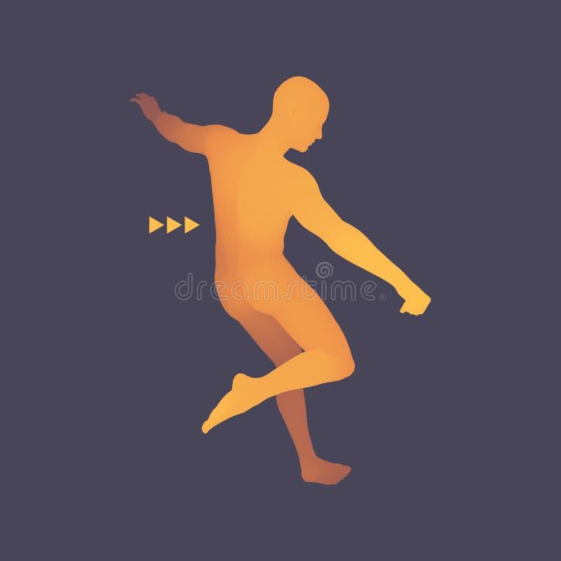 足球运动员 体育概念 3D人模型  机体人力短内裤减肥妇女 体育标志 设计要素例证图象向量 也corel凹道例证向量 皇族释放例证