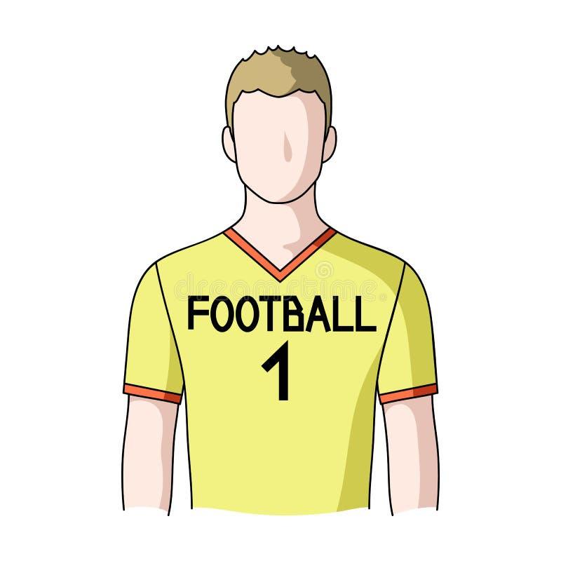 足球运动员 行业选拔在动画片样式传染媒介标志股票例证网的象 库存例证