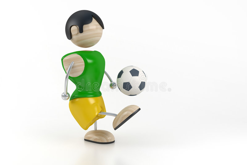 足球运动员 向量例证