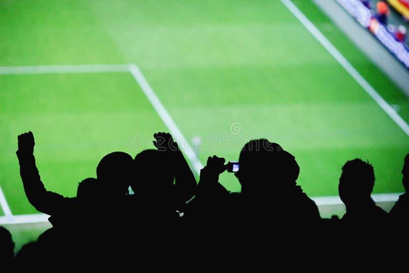 足球迷体育场拍摄 库存照片