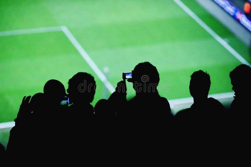 足球迷体育场 库存照片