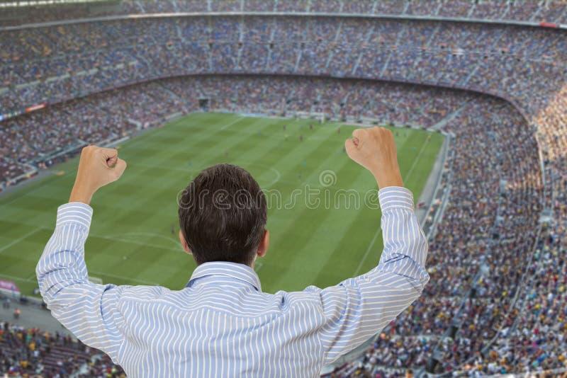 足球迷 免版税库存照片